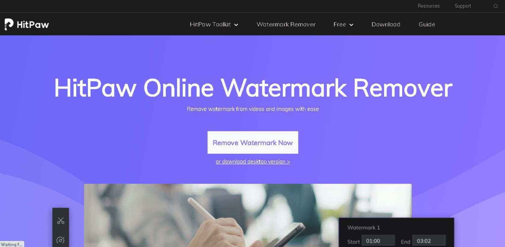 Online watermark remover Hitpaw